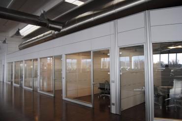 Pareti divisorie ufficio Bergamo